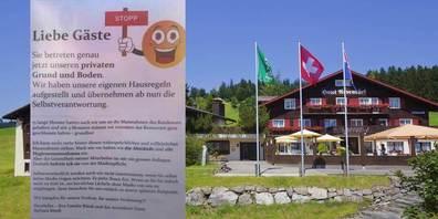 Das Hotel «Arvenbüel» stellte eigene Regeln auf und die Maskenpflicht gehörte dabei nicht dazu.