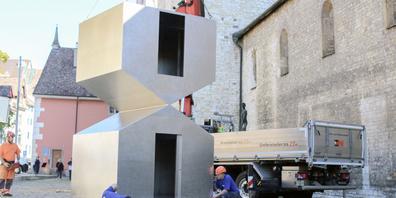 Der Kunstverein Schaffhausen weihte ein neues Kunstwerk ein.