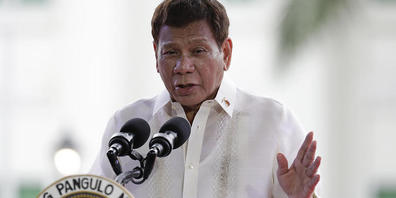 Rodrigo Duterte , Präsident der Philippinen. Foto: Aaron Favila/AP/dpa