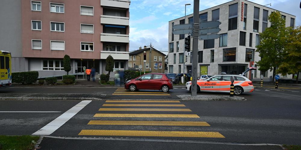 Unfall in Niederuzwil.