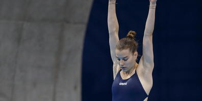 Michelle Heimberg streckt sich bei ihrem Olympia-Debüt sogar in Richtung Final vom 3-m-Brett
