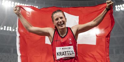 Elena Kratter wird Dritte im Weitsprung.