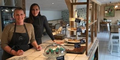 Franziska Keller-von Euw und Barbara Gerber-von Euw sind die Gastgeberinnen im neuen Café Bryggan in Grüningen