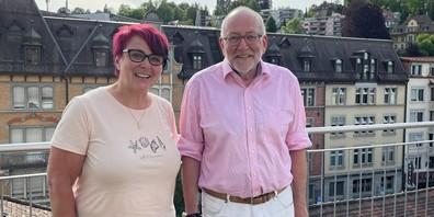 Nachfolgerin Ursula Forrer und ihr Vorgänger Luzius Schmid.