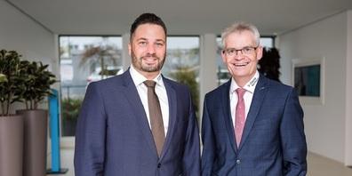 Patrick Schiegg (Stv. Vorsitzender der CBO-Geschäftsleitung, links im Bild) und Adrian Müller (Vorsitzender der CBO-Geschäftsleitung).