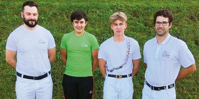 Pirmin Riederer, Christian Risch, Urs Bernhard, Lukas Roth, von links.
