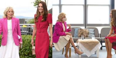 Im Partnerlook: Erstes Treffen von Herzogin Kate und First Lady Jill Biden