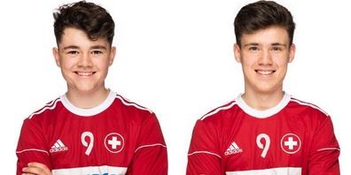 Luca Wild und Lars Hagmann von RiWi (Faustball-Gemeinschaft Rickenbach-Wilen)