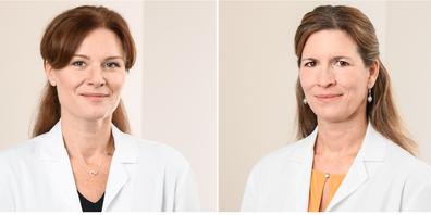 Alexa Schmied-Steinbach (l.) und Viviane Centmaier-Molnar ihre Gemeinschaftspraxis Orthopädie.
