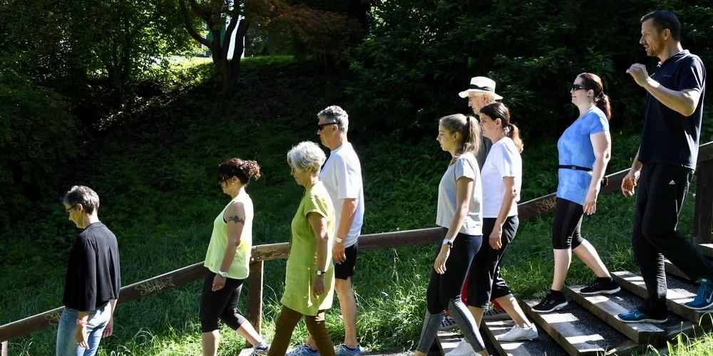 Die St.Galler Treppen vereinen Gruppen.