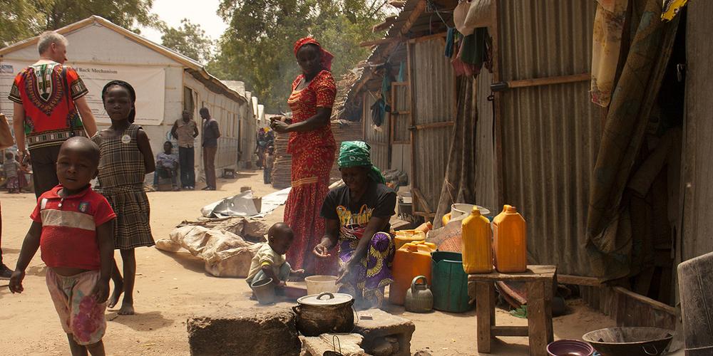 Flüchtlinge in Nigeria.