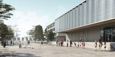 Die Märchler Stimmbürger sind deutlich für die Projektierung eines Erweiterungsbaus für die Bezirksschule auf dem Areal des Schulhauses am Park in Lachen.
