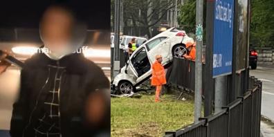 Der junge Mann flüchtete nach dem Unfall.