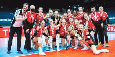 Nach 2000 und 2009 gewann der Volleyballclub Kanti Schaffhausen in der Axa-Arena Winterthur zum dritten Mal den Schweizer Cup.