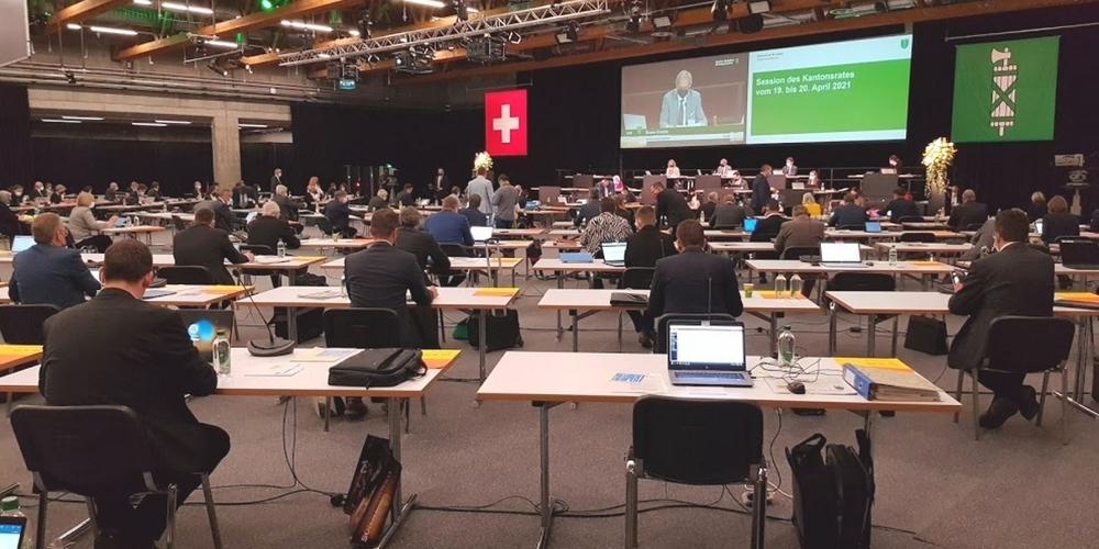 Der St.Galler Kantonsrat tagte erneut in den Olma-Hallen in St.Gallen.