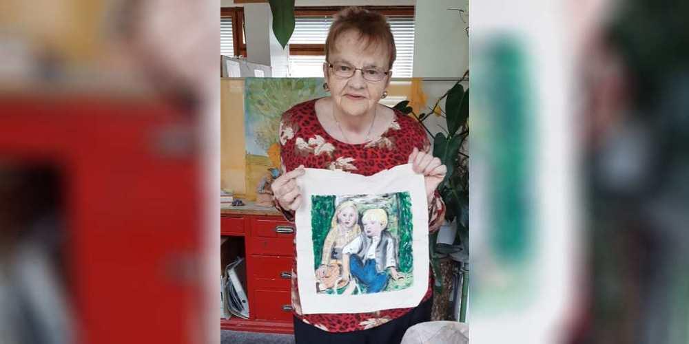 Bilder grosser Meister dienen Madeline Scherrer als Vorlage für ihre Taschen.