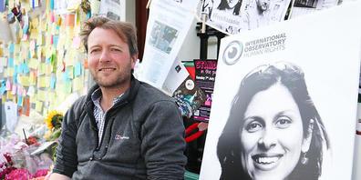 ARCHIV - Richard Ratcliffe, der Ehemann der im Iran inhaftierten Nazanin Zaghari-Ratcliffe,hofft auf die Freilassung seiner Frau. Foto: Jonathan Brady/PA Wire/dpa