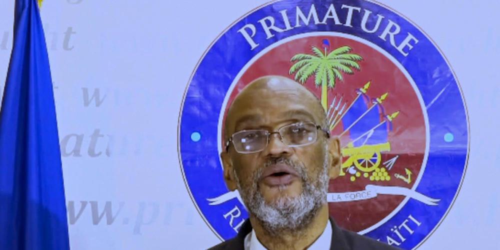SCREENSHOT - Ariel Henry, Premierminister von Haiti, spricht per Videobotschaft bei der 76. Sitzung der UN-Generalversammlung am Hauptsitz der Vereinten Nationen. Foto: United Nations/UN Web TV/AP/dpa - ACHTUNG: Nur zur redaktionellen Verwendung u...