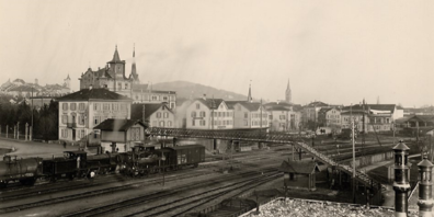 Bahnhof Wil 1920