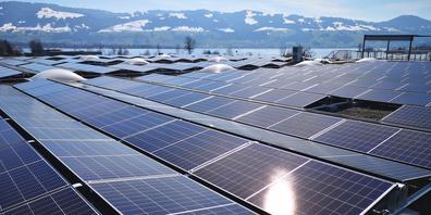 Mit dem Jahresertrag der Photovoltaikanlage auf dem Dach der Helbling & Co. AG in Jona könnte man 44 Einfamilienhäuser mit Strom versorgen.