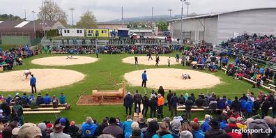 Archivbild vom Thurgauer Kantonalen Schwingfest 2019 in Frauenfeld.