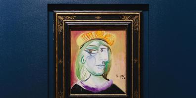 Pablo Picassos Gemälde von Marie Therese aus dem Jahr 1938 ist in der Bellagio Gallery of Fine Art zu sehen. Das Gemälde ist bei einer auktion in Las Vegas für 40,5 Millionen Dollar (34,8 Millionen Euro) versteigert worden. Foto: Wade Vandervort/L...