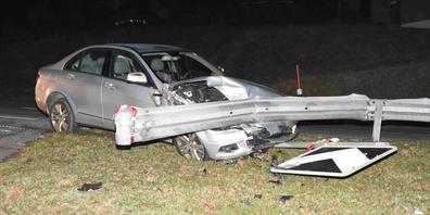 Viel Glück gehabt: Der Mann blieb beim Unfall unverletzt.