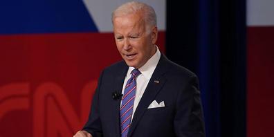 Der US-amerikanische Präsident Joe Biden nimmt an einem Town-Hall-Event des Senders CNN teil. Bei der Veranstaltung am Donnerstagabend hat Biden mit drastischen Worten vor den Folgen des Klimawandels gewarnt und entschlossenes Handeln gefordert. F...