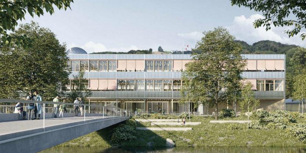 Neue Kantonsschule auf dem Rietstein-Areal.