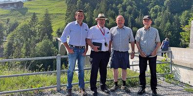 Thomas Roffler, Ueli Thöny, Res Aebi, Andreas Kessler (von links).