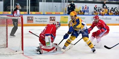 Andres Ambühl und der HC Davos gewinnen gegen die SCRJ Lakers mit 5:3.