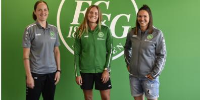 Sandra Egger, Sportchefin FC St.Gallen 1879; Eva Bachmann; Patricia Willi, Sportchefin FC St. Gallen