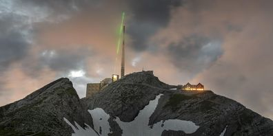 Trumpf und die Uni Genf haben den laserbasierten Blitzableiter auf über 2500 m ü. M. in Betrieb genommen