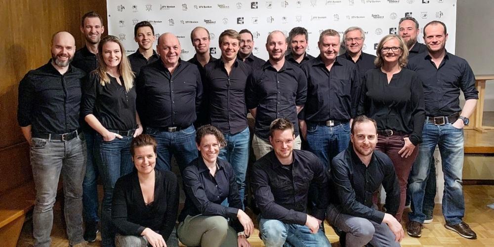 Das OK des St.Galler Kantonalturnfestes 2021 in Benken.