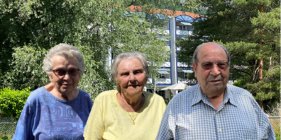 Diese drei Bewohner vom Alters- und Pflegeheim Hof Haslach in Au haben die Pandemie überstanden.