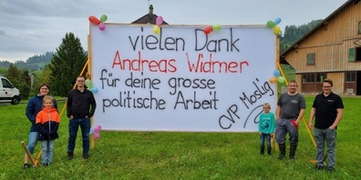 Verabschiedung von Andreas Widmer, CVP Mosnang.