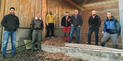 Gründungsmitglieder IG Nachhaltige Zukunft Flawil (v.l.): Roman Stüdli, Pascal Gmür, Christoph Diem, Hans Osterwalder sen., Roman Gschwend, Werner Iten und Marco Lüchinger (es fehlt Hans Osterwalder jun.).
