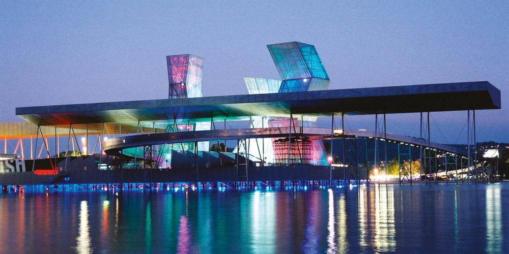 Die Arteplage Biel der letzten Landesausstellung, der Expo.02 im Jahr 2002