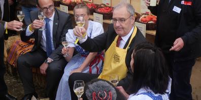 Als Bundespräsident Guy Parmelin (SVP) am 7. Oktober die Olma besuchte, waren die Corona-Tests noch gratis.