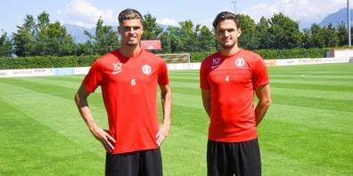 Der Vertrag mit Ismajl Beka (l.)  wurde um zwei Jahre, der mi Egzon Kllokoqi um ein Jahr verlängert.