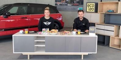 MINI-Fahrzeuge und ecoleo.ch-Produkte werden vorgestellt.
