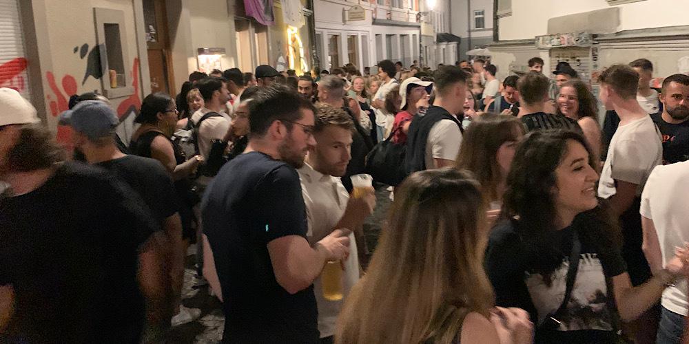 Erneut kam es in der Stadt St.Gallen zu einem wilden Party-Wochenende.