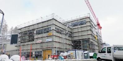 Der Neubau der Molkerei Forster macht grosse Fortschritte.