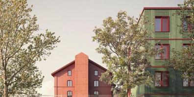 Visualisierung des Siegerprojekts der Bieler Architekten Sollberger Bögli für die Erneuerung der Gefängnisse und den Neubau eines zentralen Ausserrhoder Strassenverkehrsamts in Gmünden AR.