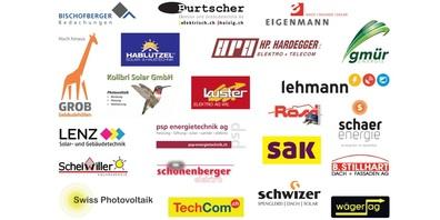 22 Partnerfirmen für die PV-Aktion Fürstenland.