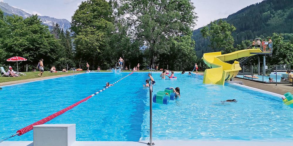 Die Badi Fideris hat seit Mitte Juni offen.