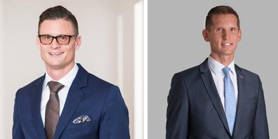 Marco Bührer (r.) verlässt die Clientis Spar- und Leihkasse Thayngen. Adrian Rosenberger wird sein Nachfolger.