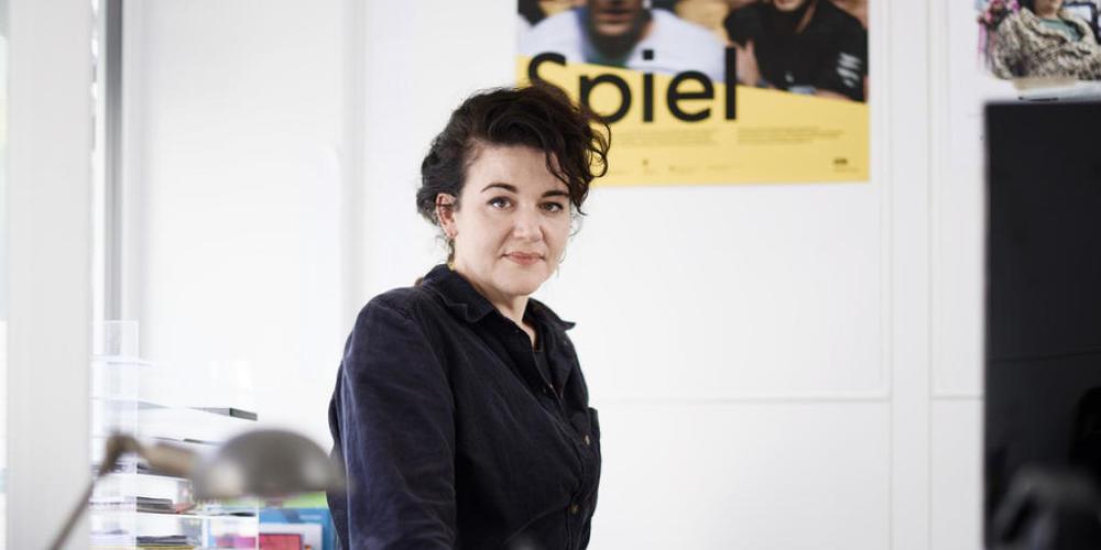 """""""Selbstkritik ist zwar wichtig, aber Zweifel sind hinderlich"""", rät die Schweizer Produzentin Franziska Sonder dem Filmnachwuchs."""