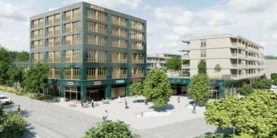 Visualisierung Migros Uzwil Neubau.
