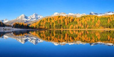 Der Lej da Staz oder Stazersee gehört zu den Klassikern der Oberengadiner Seen GR.